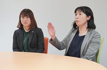 UMEDAI事業部 Fさん・Sさん インタビューの様子